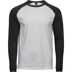 Vêtements Homme T-shirts manches longues Tee Jays T5072 Blanc / noir