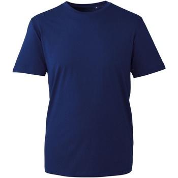 Vêtements Homme T-shirts manches courtes Anthem AM010 Bleu marine