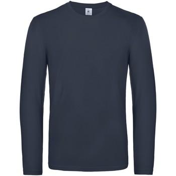 Vêtements Homme T-shirts manches longues B And C TU07T Bleu marine