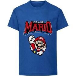 Vêtements Enfant T-shirts manches courtes Super Mario  Bleu
