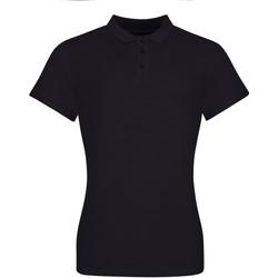 Vêtements Femme Polos manches courtes Awdis JP10F Noir