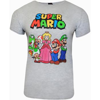 Vêtements T-shirts manches courtes Super Mario  Gris
