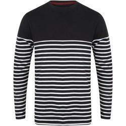 Vêtements Homme T-shirts manches longues Front Row FR134 Bleu marine / blanc