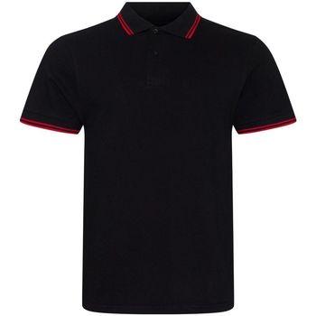 Vêtements Homme Polos manches courtes Awdis JP003 Noir / rouge