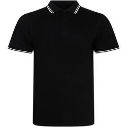 Vêtements Homme Polos manches courtes Awdis JP003 Noir / blanc