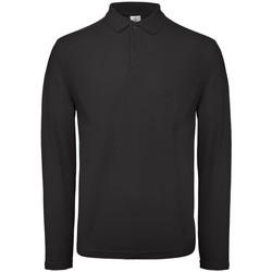 Vêtements Homme Polos manches longues B And C BA290 Noir