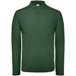 Vêtements Homme Polos manches longues B And C BA290 Vert bouteille
