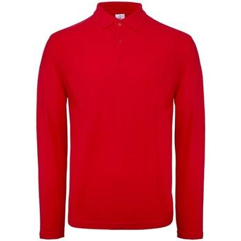 Vêtements Homme Polos manches longues B And C BA290 Rouge