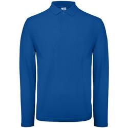 Vêtements Homme Polos manches longues B And C BA290 Bleu roi