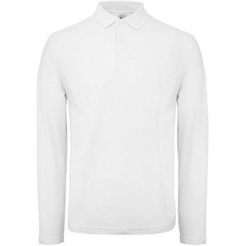 Vêtements Homme Polos manches longues B And C BA290 Blanc