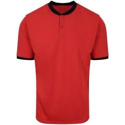 Vêtements Homme Polos manches courtes Awdis JC044 Rouge / noir