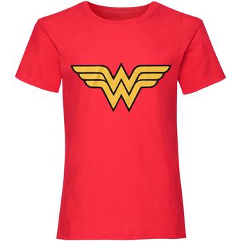 Vêtements Femme T-shirts manches courtes Dc Comics  Rouge