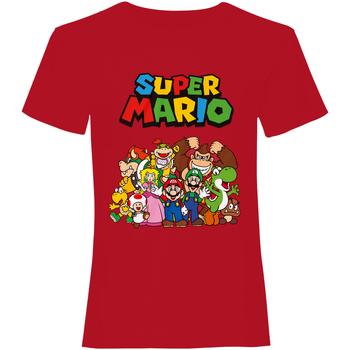 Vêtements T-shirts manches courtes Super Mario  Rouge
