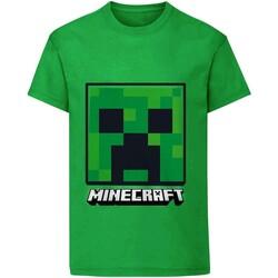Vêtements Enfant T-shirts manches courtes Minecraft  Vert