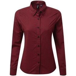 Vêtements Femme Chemises / Chemisiers Premier PR352 Noir / rouge