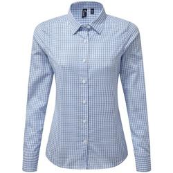 Vêtements Femme Chemises / Chemisiers Premier PR352 Bleu clair / blanc