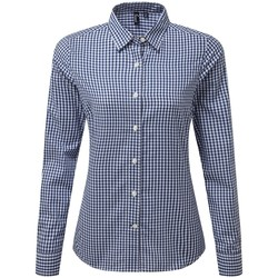 Vêtements Femme Chemises / Chemisiers Premier PR352 Bleu marine / blanc