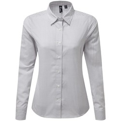 Vêtements Femme Chemises / Chemisiers Premier PR352 Argent / blanc