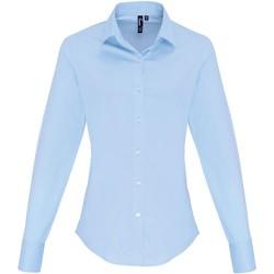 Vêtements Femme Chemises / Chemisiers Premier PR344 Bleu pâle