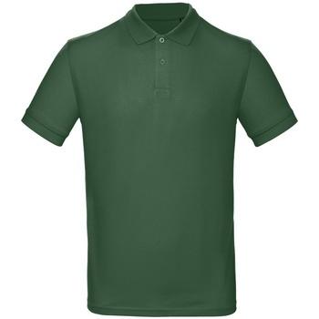 Vêtements Homme Polos manches courtes B And C PM430 Vert