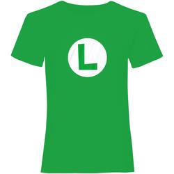 Vêtements T-shirts & Polos Super Mario  Vert / blanc