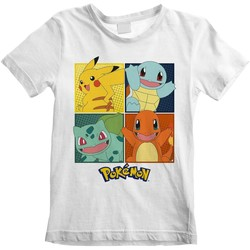 Vêtements Enfant T-shirts & Polos Pokemon  Blanc