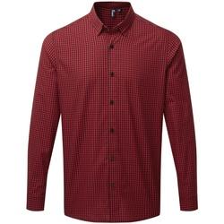 Vêtements Homme Chemises manches longues Premier PR252 Noir / rouge