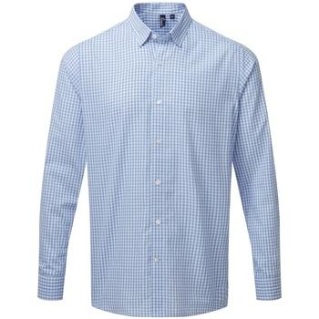 Vêtements Homme Chemises manches longues Premier PR252 Bleu clair / blanc