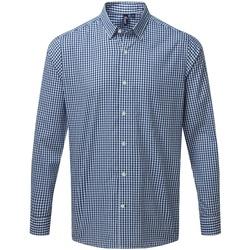 Vêtements Homme Chemises manches longues Premier PR252 Bleu marine / blanc