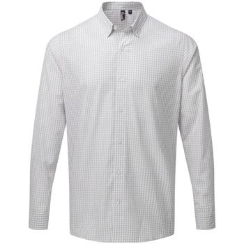 Vêtements Homme Chemises manches longues Premier PR252 Argent / blanc