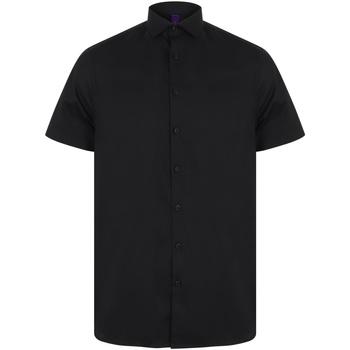 Vêtements Homme Chemises manches courtes Henbury HB537 Noir