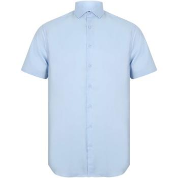 Vêtements Homme Chemises manches courtes Henbury HB537 Bleu clair