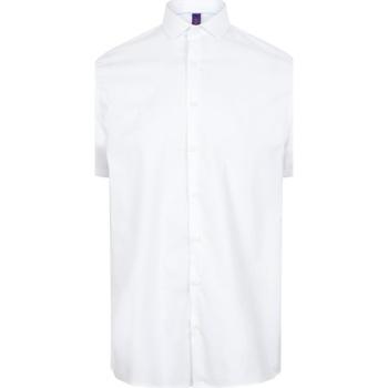 Vêtements Homme Chemises manches courtes Henbury HB537 Blanc