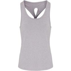 Vêtements Femme Débardeurs / T-shirts sans manche Tridri TR042 Gris chiné