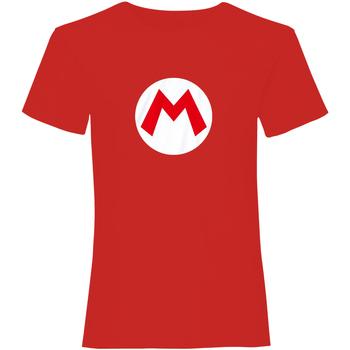 Vêtements T-shirts manches courtes Super Mario  Rouge / blanc