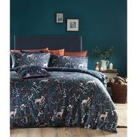 Maison & Déco Housses de couettes Furn Taille unique Bleu de minuit