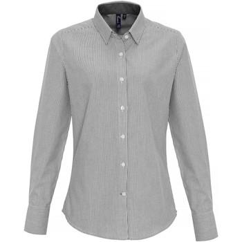 Vêtements Femme Chemises / Chemisiers Premier PR338 Blanc / gris