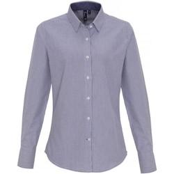 Vêtements Femme Chemises / Chemisiers Premier PR338 Blanc / bleu marine