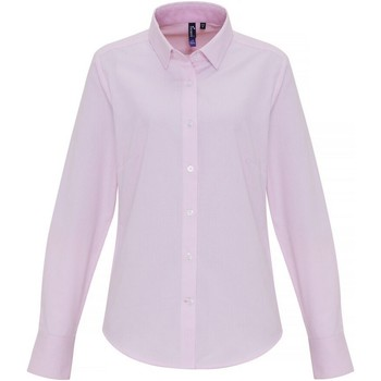 Vêtements Femme Chemises / Chemisiers Premier PR338 Blanc / rose