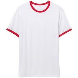 Vêtements Homme T-shirts manches courtes Alternative Apparel AT013 Blanc / rouge