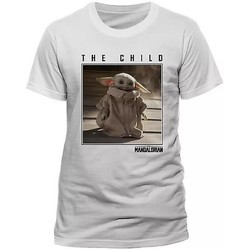 Vêtements T-shirts manches courtes Star Wars: The Mandalorian  Blanc