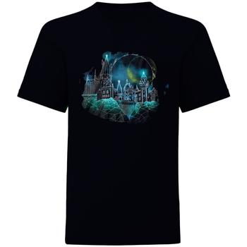 Vêtements T-shirts manches courtes Harry Potter  Noir