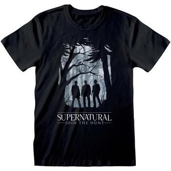 Vêtements T-shirts manches courtes Supernatural  Noir