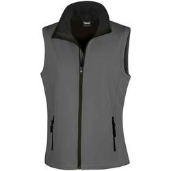 Vêtements Femme Vestes Result RS232F Gris foncé / noir