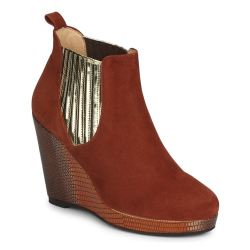 Chaussures Femme Bottines MySuelly LEON Rouille / Or