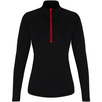 Vêtements Femme T-shirts manches longues Tridri TR120 Noir / rouge