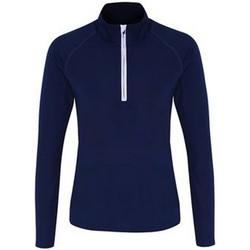 Vêtements Femme T-shirts manches longues Tridri TR120 Bleu marine / blanc