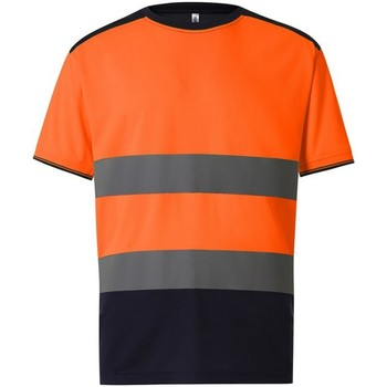 Vêtements Homme T-shirts manches courtes Yoko  Orange / bleu marine