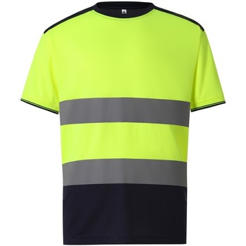 Vêtements Homme T-shirts manches courtes Yoko  Jaune / bleu marine