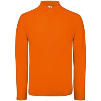 Vêtements Homme Polos manches longues B And C PUI12 Orange vif